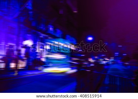 Blurred image of night street