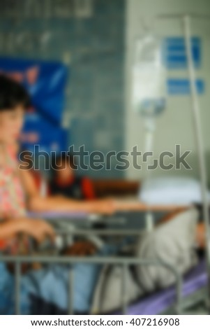 Blurred image of  patient waiting for see doctor.