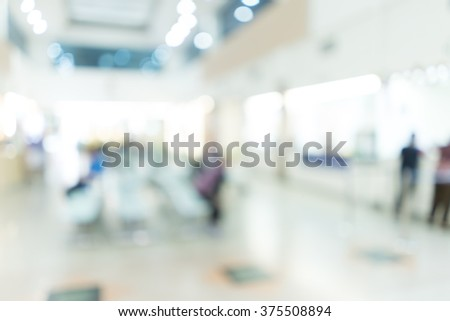 Blurred image of patient waiting for see doctor. for background uses