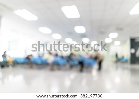 Blurred image of patient waiting for see doctor. for background uses - stock photo
