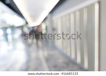Blurred image of shopping mall for background uses.