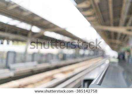 Blurred image of Sky Train for background use - stock photo