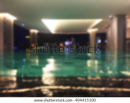 Blurred image of swimming pool