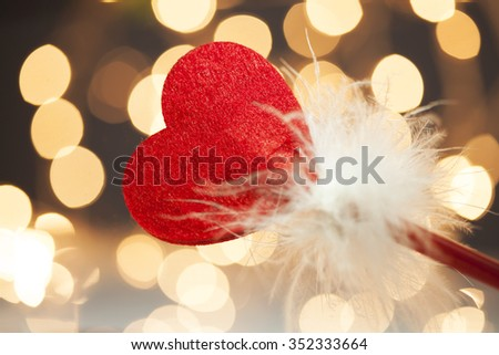 Blurred light Background with Heart