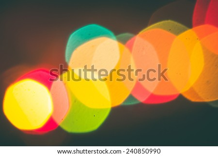 blurred light bokeh of city night for background.