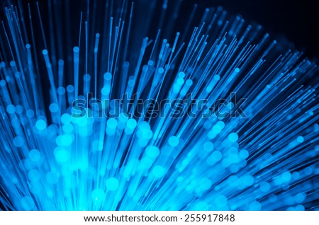 blurred light fiber optic for background and wallpaper - stock photo