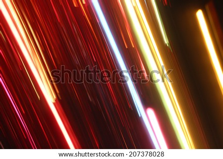 blurred light trails - stock photo