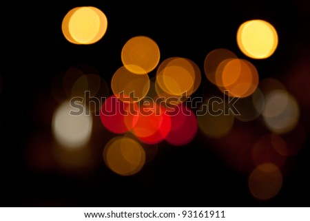 blurred lights abstract color background - stock photo