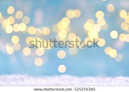 BLURRED LIGHTS BACKGROUND, CHRISTMAS PRESENTS BACKDROP, SOFT LIGHT BLUE, TWINKLY CIRCLES, BOKEH