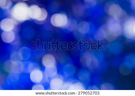 Blurred lights bokeh, Circular bokeh on blue background