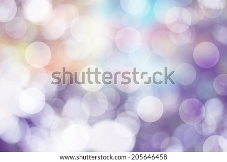 Blurred Lights filtered natural  background. - stock photo