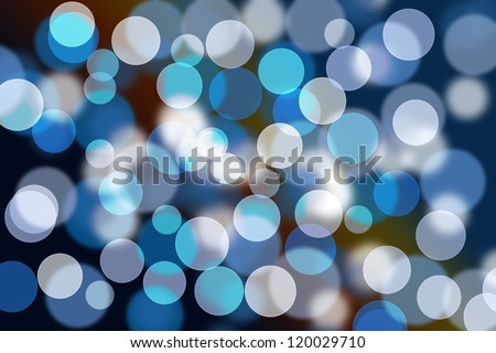 Blurred lights from a christmas lighting - stock photo