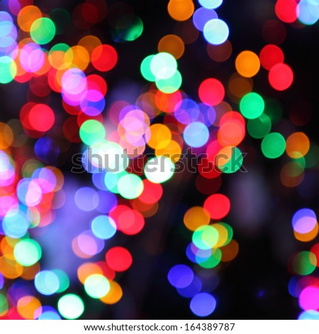 blurred lights of christmas tree abstract bokeh background