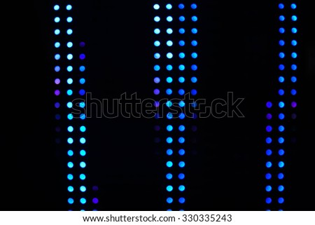 Blurred lights of LED bulb