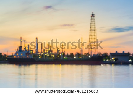 stock-photo-blurred-lights-oil-refinery-