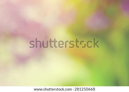 Blurred lilac flowers, trees. Spring nature background. Blur, bokeh.  - stock photo