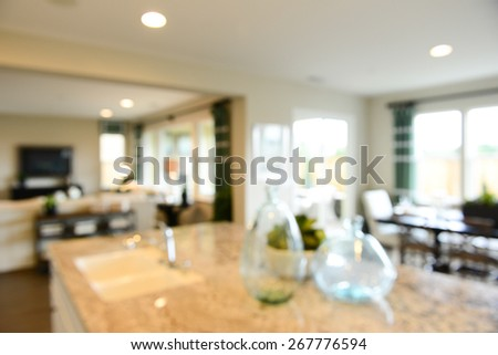 Blurred Luxurious interior, abstract blur background for web design - stock photo