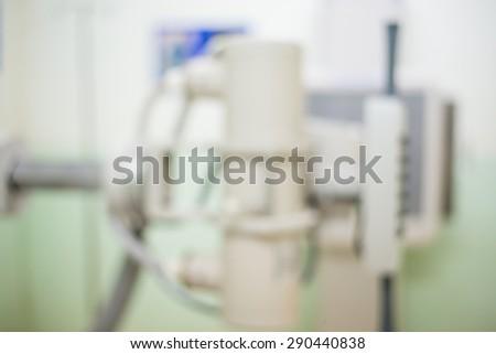 Blurred medical equipment,X-ray - stock photo