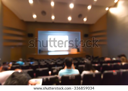 Blurred meeting