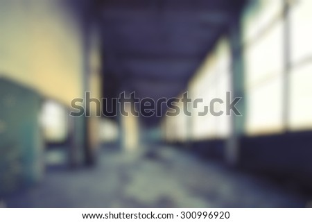 Blurred modern hipster background of an abandoned building interior. - stock photo