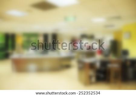 Blurred modern office interior background - stock photo