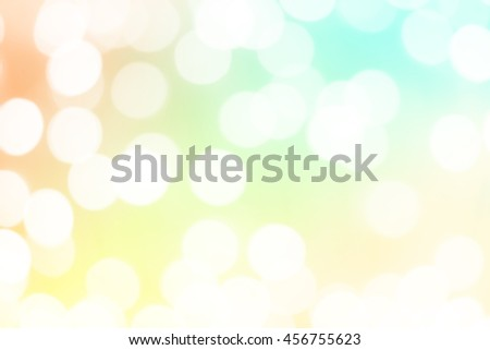 Blurred natural abstract bokeh background with pastel soft colored abstract background, using for business media presentation or desktop wallpaper