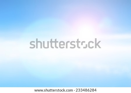 Blurred nature background. Aerial View of clouds. - stock photo