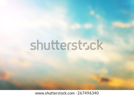 Blurred nature sky background. - stock photo