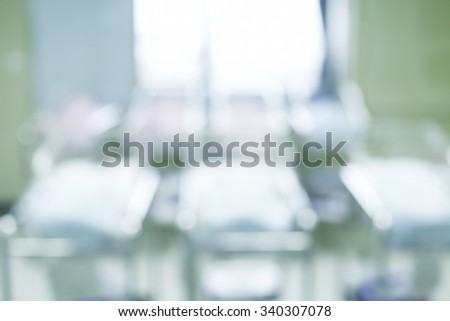 Blurred Newborn in Childbearing Center Abstract Background - stock photo