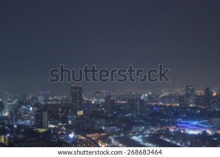 Blurred night city background.blur backgrounds concept