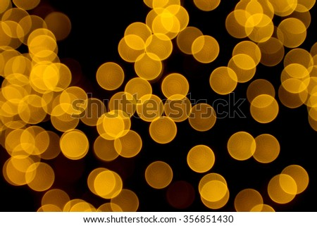 Blurred Night Light Abstract Colorful Orange Bokeh defocused can use as background