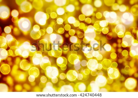 blurred of blue and silver glittering shine bulbs lights background:blur of Christmas wallpaper decorations concept.xmas holiday festival backdrop:sparkle circle lit celebrations display. - stock photo