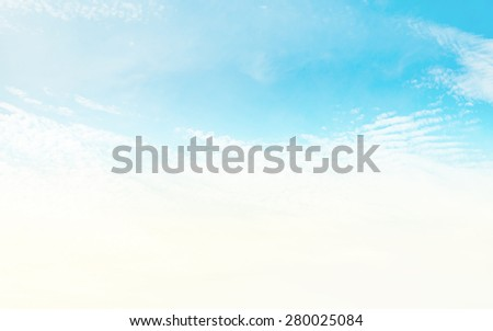 Blurred of cloud and sky in the pastel retro tone for background soft focus. - stock photo