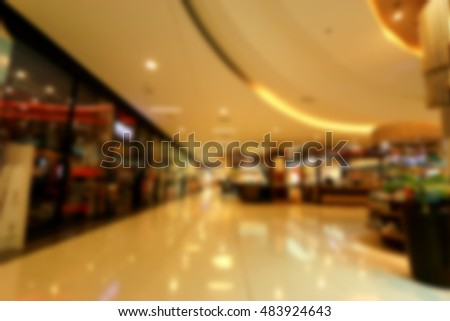 Blurred of department store