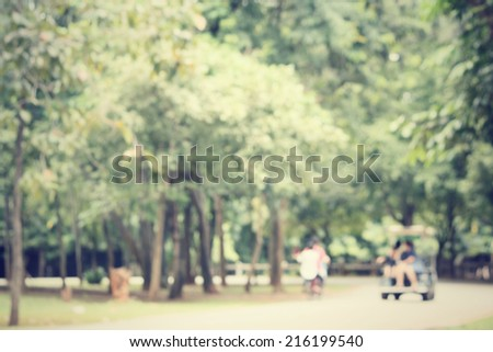 blurred of park - stock photo
