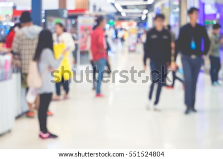 Blurred of people in market