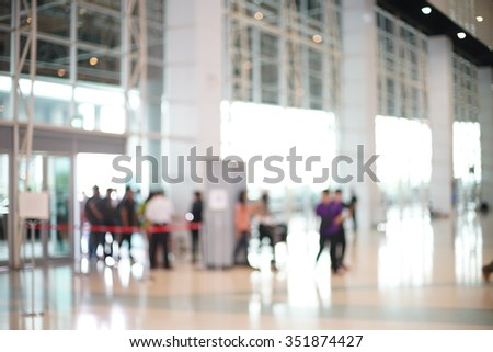 Blurred of Security Checkpoint - Body and Luggage Scan Machine, Security body scan- Airport Check In, background uses