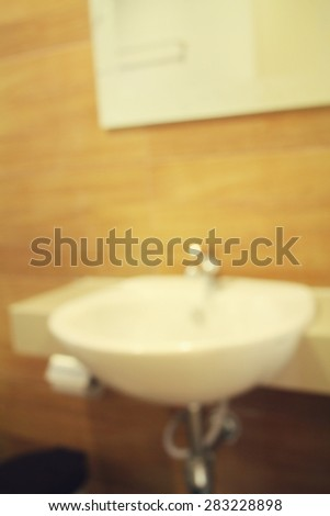 Blurred of toilet - stock photo