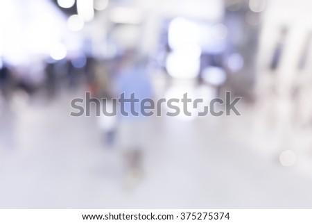 Blurred or defocus of Art Gallery or Museum - stock photo