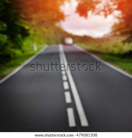Blurred out road