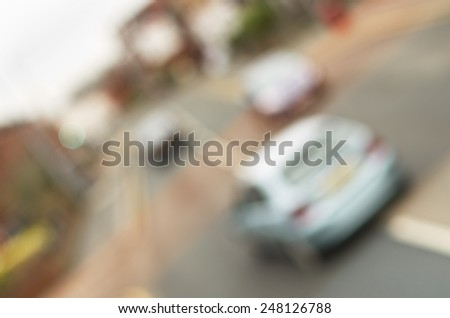 Blurred out traffic, out of focus scene. - stock photo