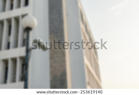 Blurred outside security cameras cover single angles - stock photo