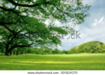 Blurred park, natural background - stock photo