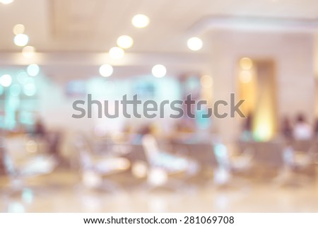 Blurred patient waiting for see doctor,abstract background - stock photo