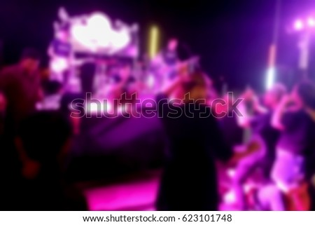blurred photo, Blurry image, Night Party Concert, background