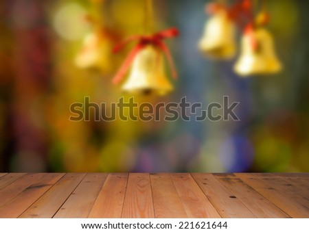 Blurred picture of christmas and new year background - stock photo