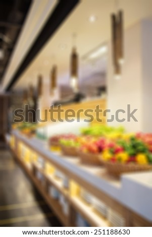 Blurred restaurant with bokeh background