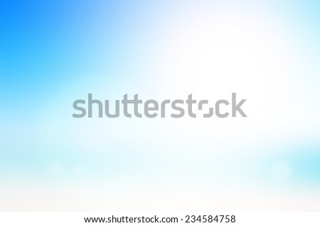 Blurred sandy beach backdrop. - stock photo