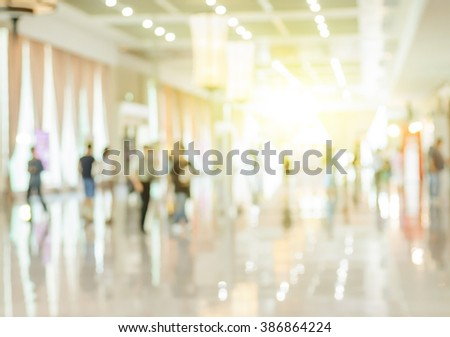 Blurred shopping mall and people background.  - stock photo