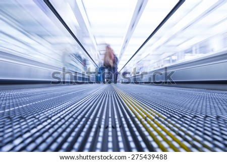 blurred Sidewalk elevator - stock photo
